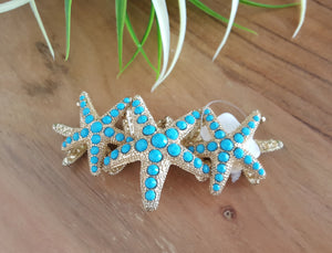Out to Sea Teal Starfish Bracelet