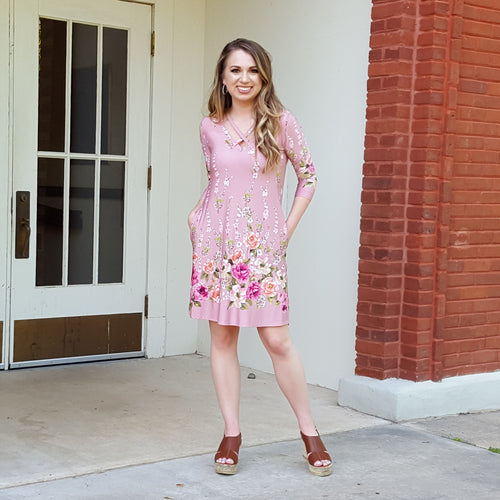 Shropshire Rose Garden Blush Dress