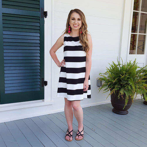 Day Dreaming Black & White Dress