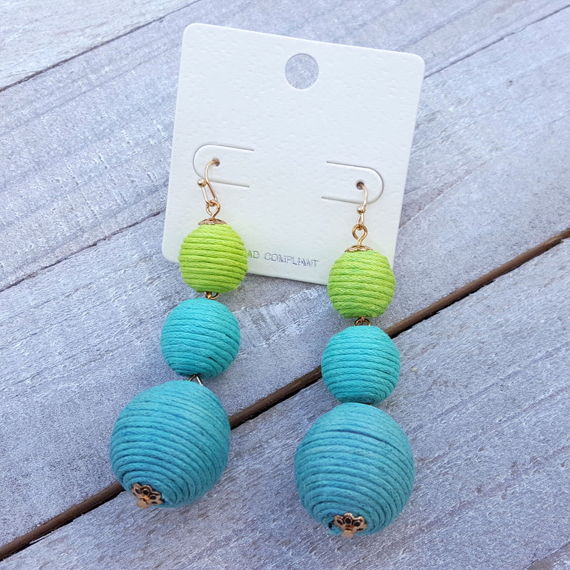 Changing Tides Blue Earrings