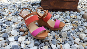 My Turn Pink & Orange Wedges
