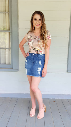 Sweetheart Dusty Rose Top