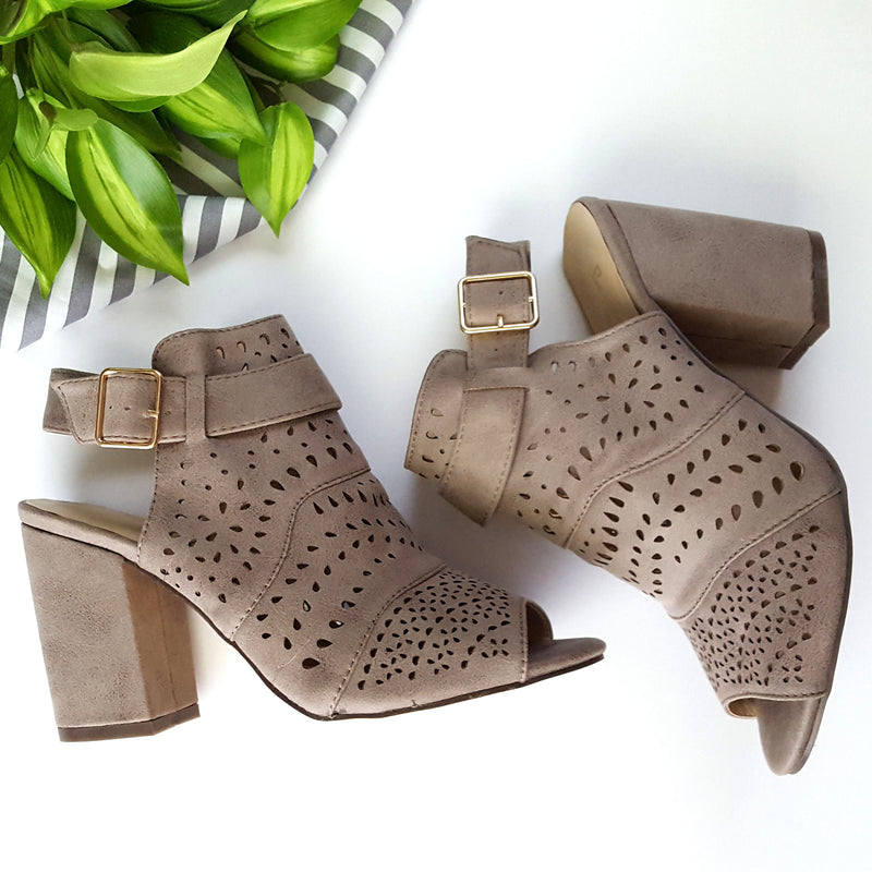 A Step Above Grey Booties