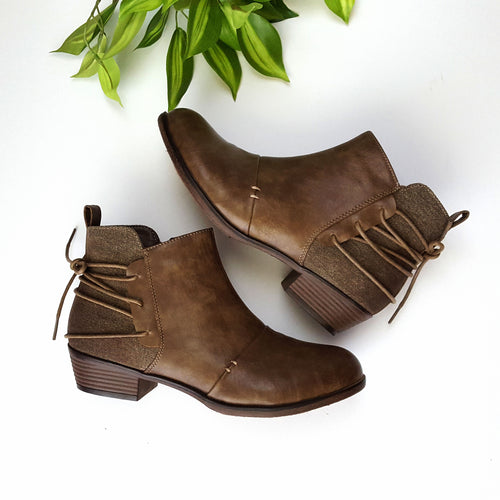 On The Move Taupe Booties