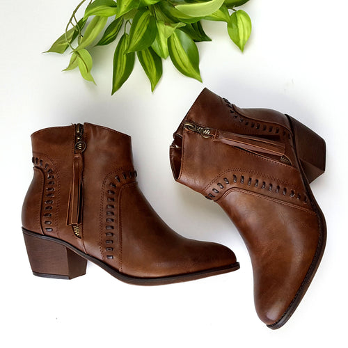 First Step Brown Booties