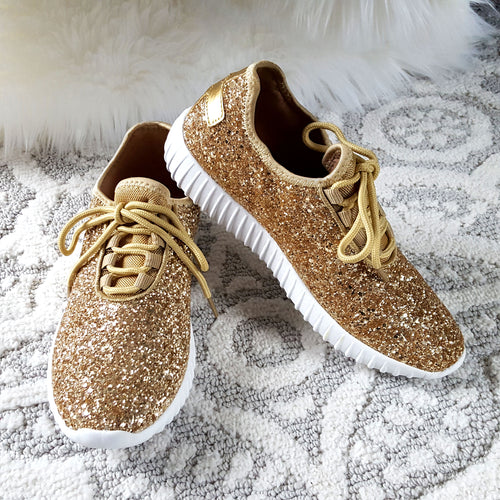 Touch of Glam Gold Sneakers