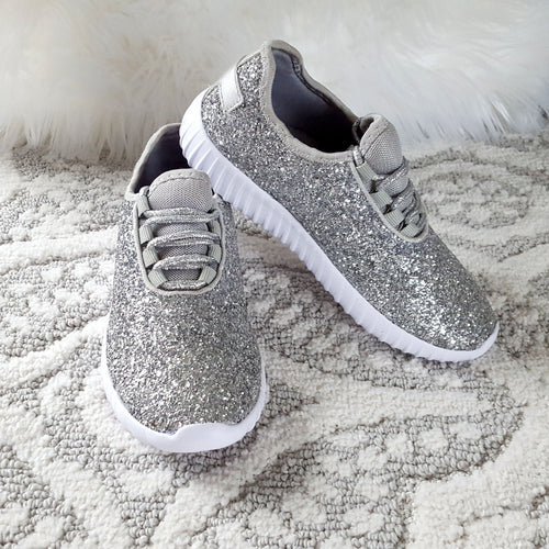 Touch of Glam Silver Sneakers