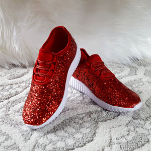 Touch of Glam Red Sneakers