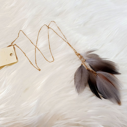 Not Like The Others Grey Feather Necklace