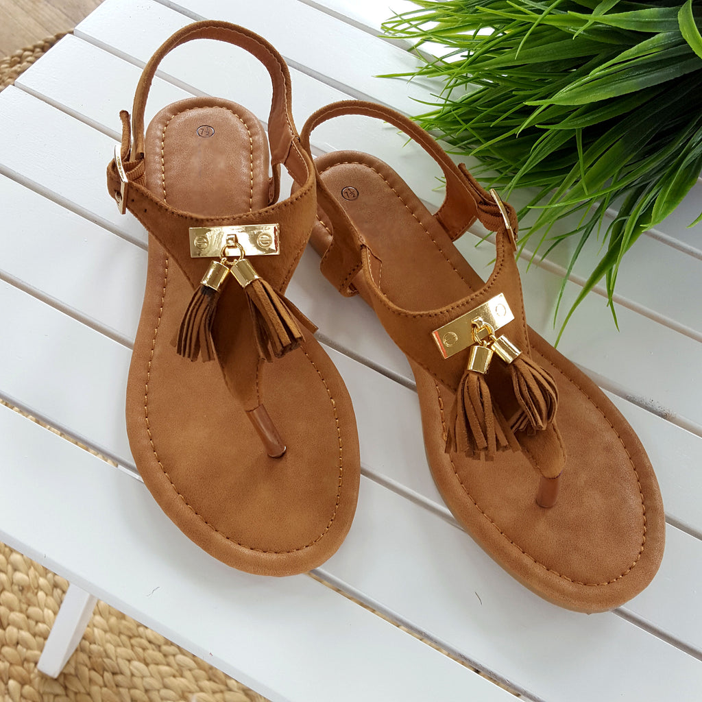 All Around Me Tan Sandals