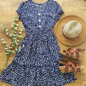 Begin Again Navy Dress