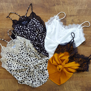 silky lace camis