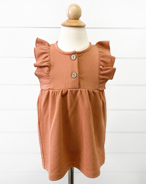 peach toddler girls dress