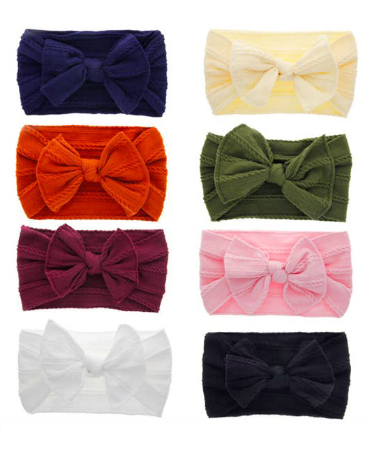 baby toddler girls bow multiple color headband
