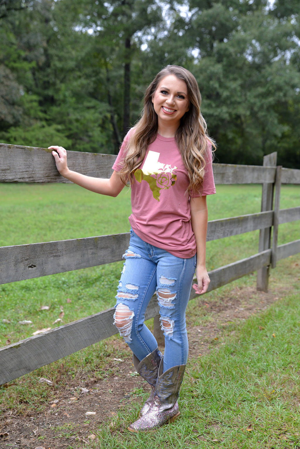 In My Soul Texas Duty Rose Tee
