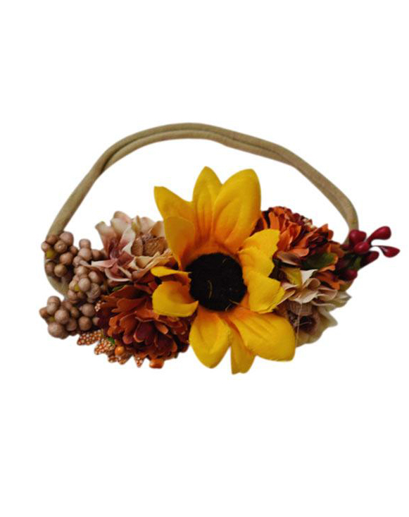 Sunflower Floral Headband