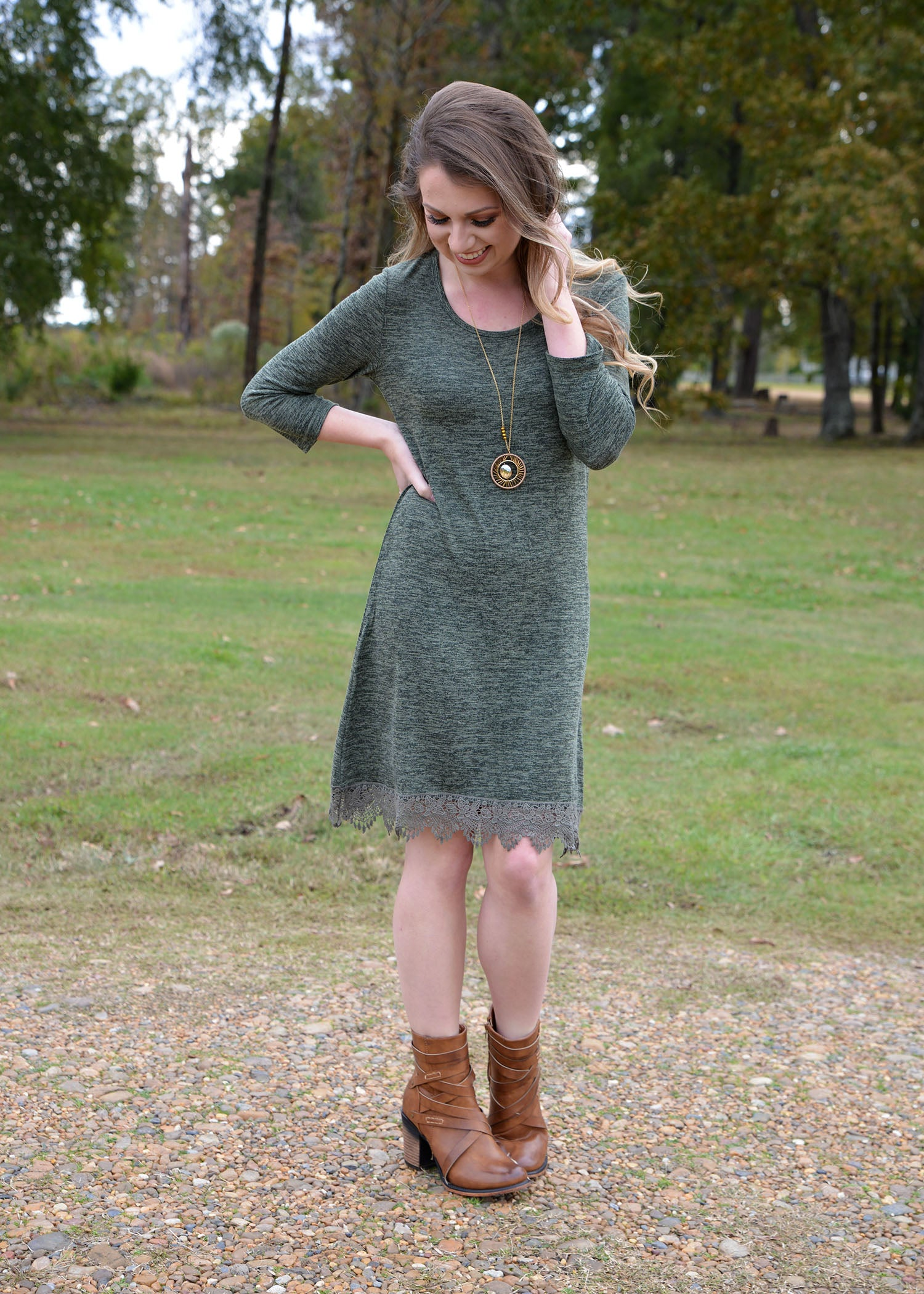 Take Me to Another Place Olive Dress