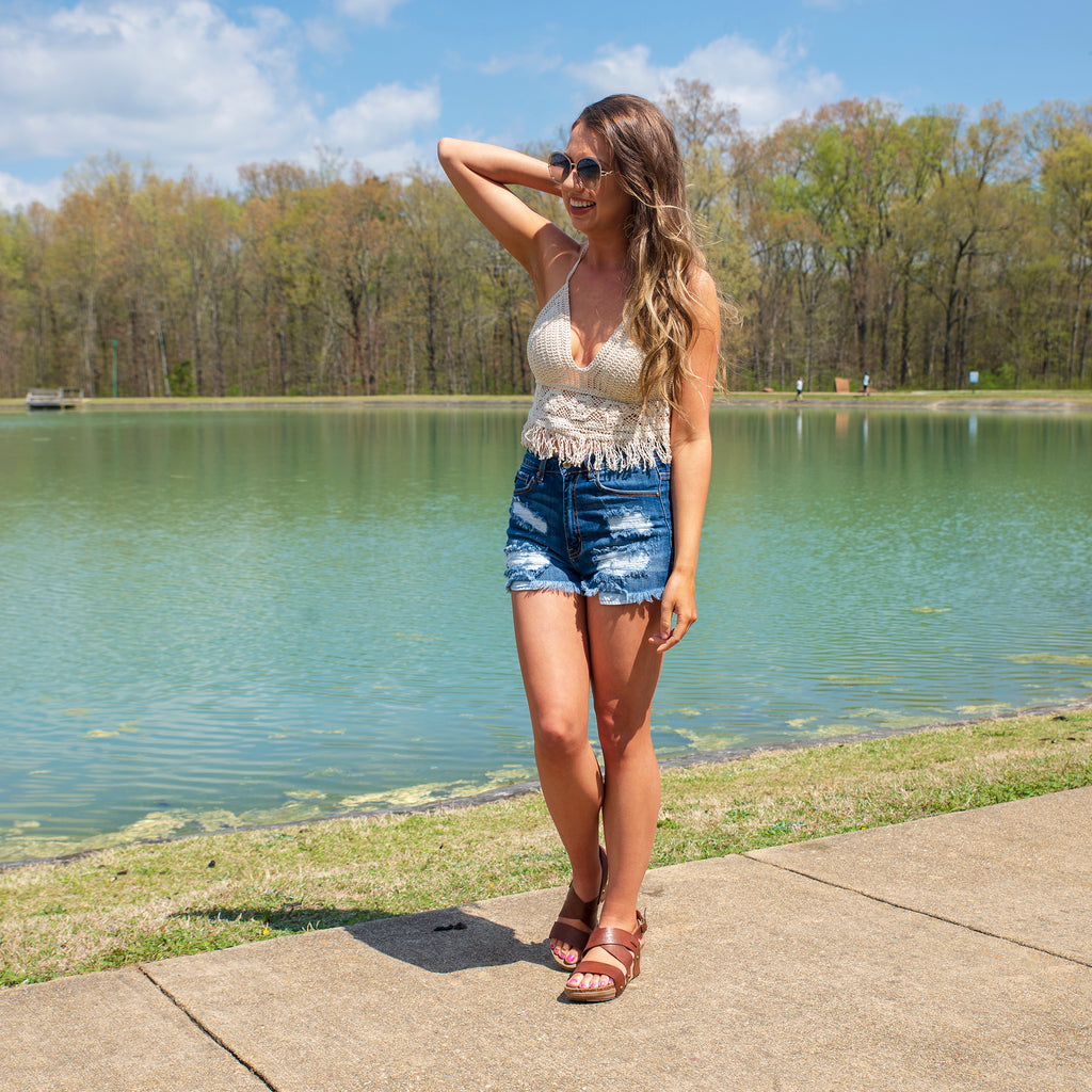Ready for Adventure Crochet Halter Top