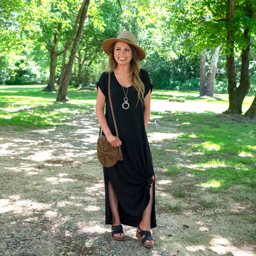 More to Love Black Maxi Dress