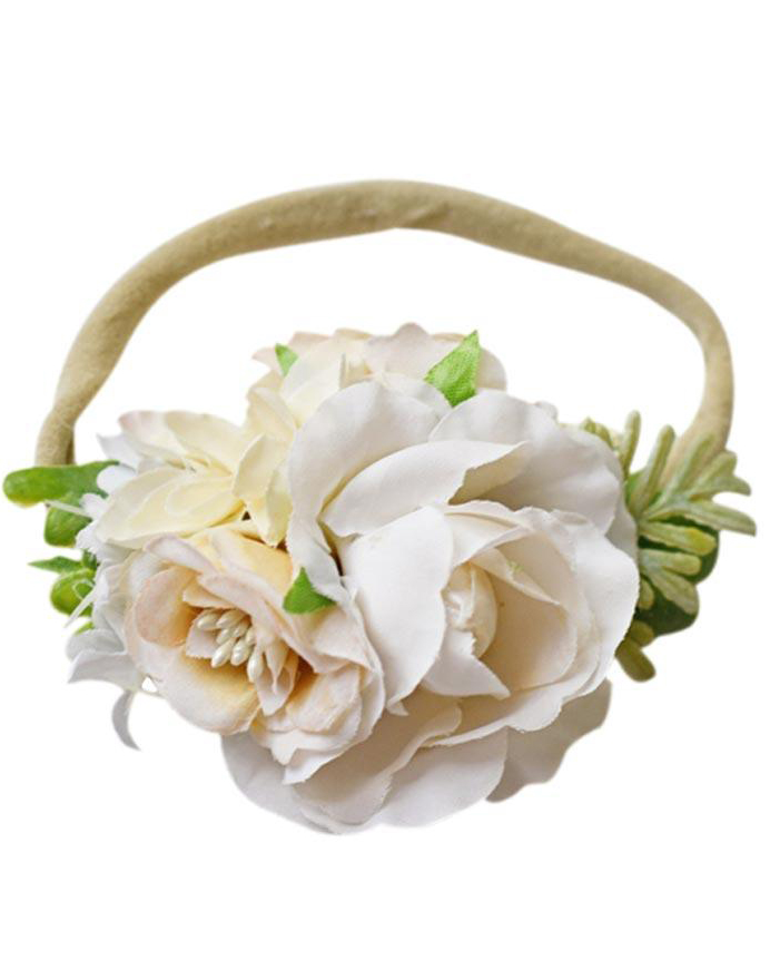 Ivory Rose Floral Headband