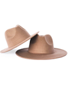 child toddler taupe light brown felt hat
