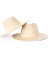 child toddler white ivory felt hat