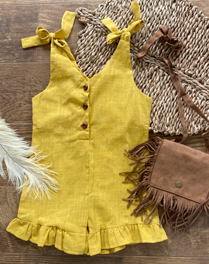 mustard girls/toddler romper