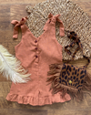 caramel girls/toddler romper