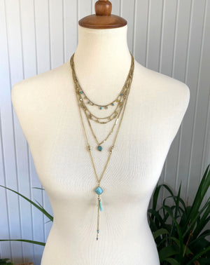 Layers of Love Mint Necklace