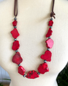 Step It Up Red Turquoise Necklace