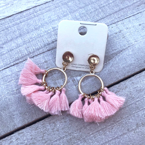 Such a Doll Pink Earrings