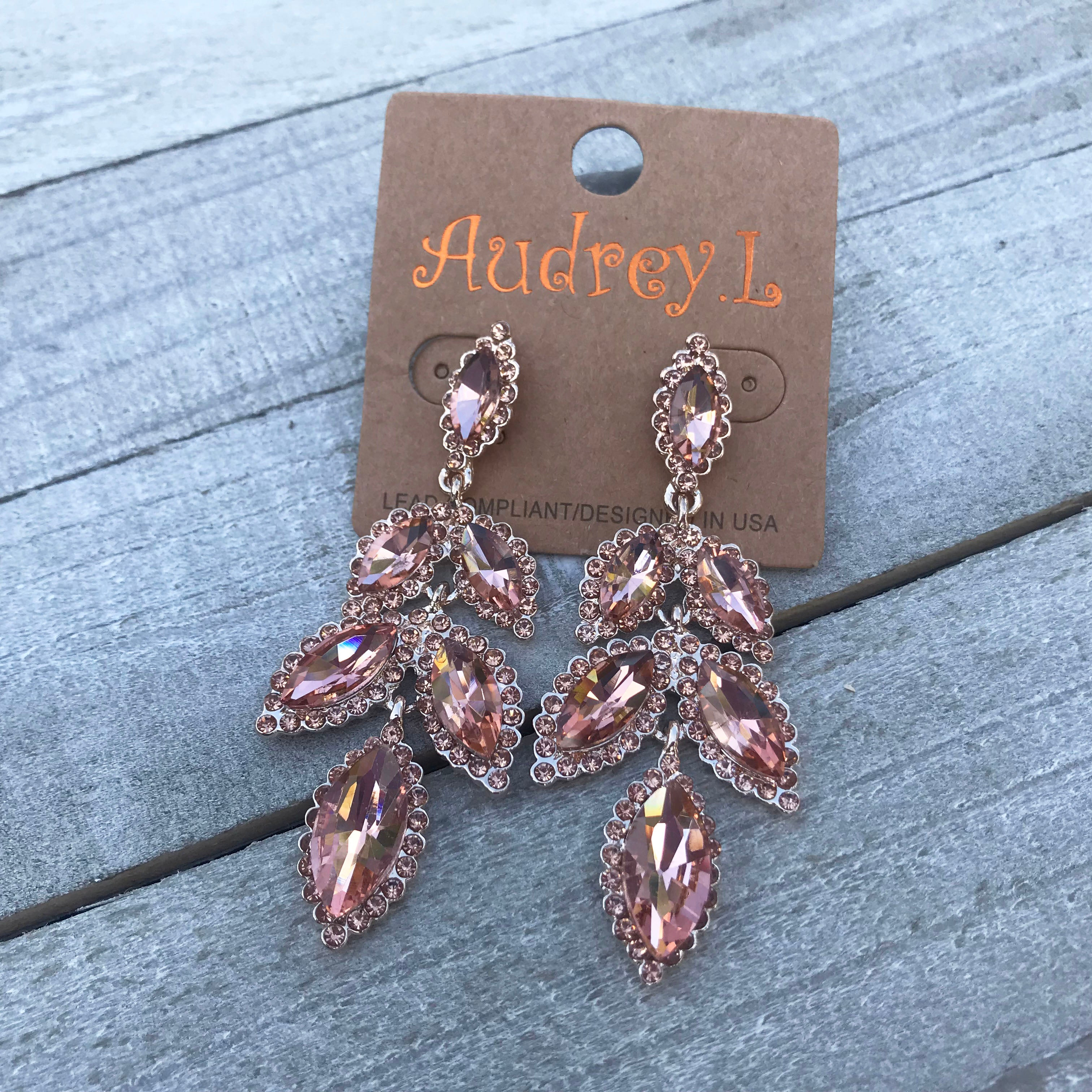 Big Moment Rose Gold Rhinestone Earrings