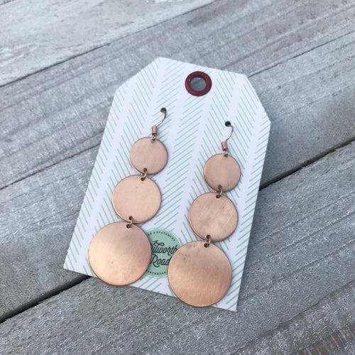 Around We Go Rose Gold Earrings