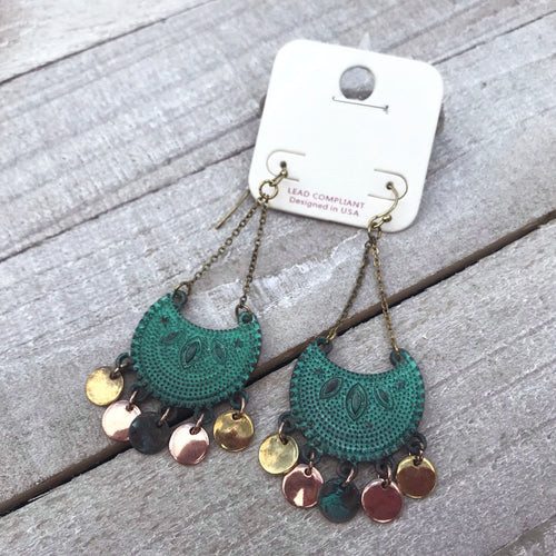 Vintage Flair Turquoise Earrings