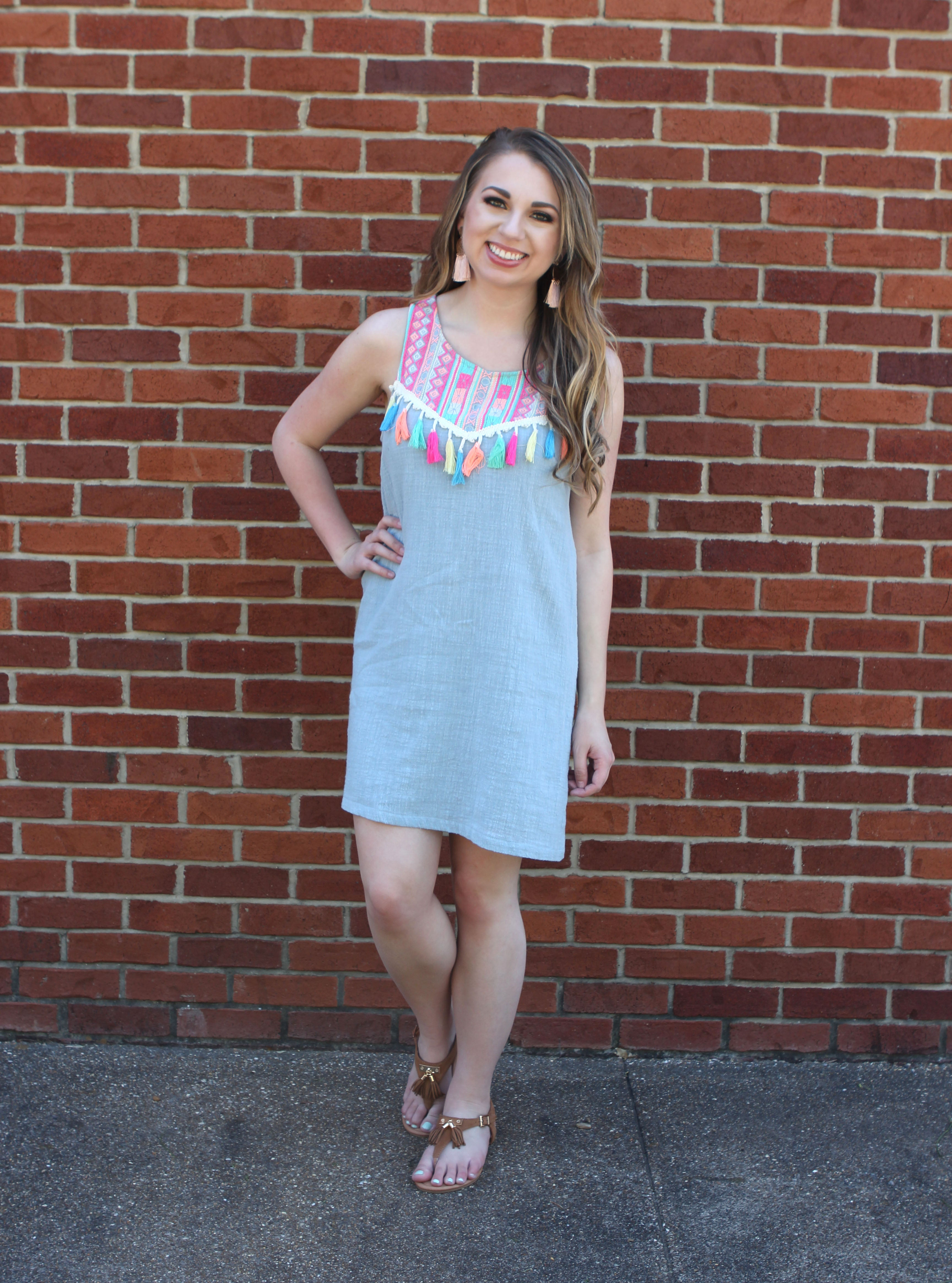 279c8c1c52 By the Bay Blue Dress – The Lace Anchor