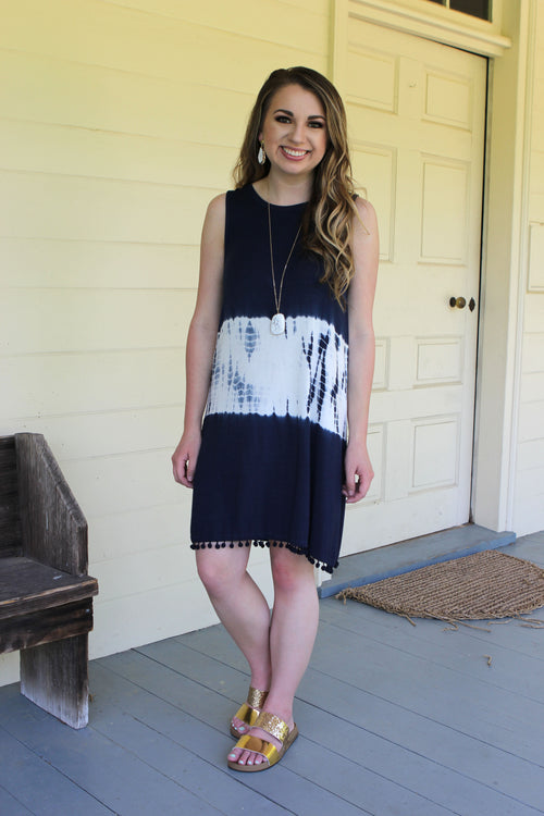 Making Waves Navy Dress