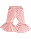 toddler girls pink velvet bell pants