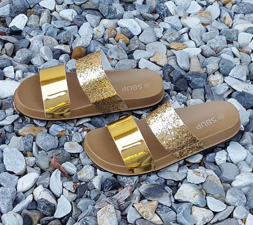 You Glow Girl Gold Sandal
