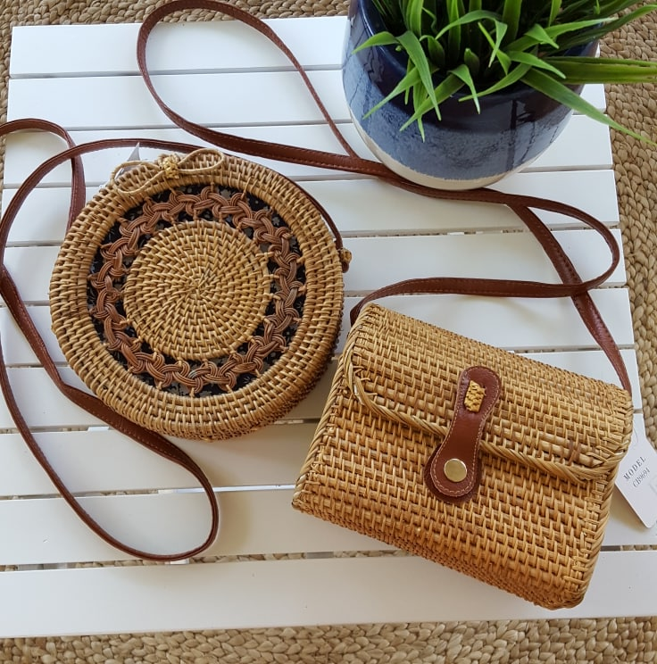 Another Sunny Day Natural Rattan Bag