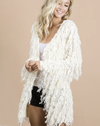 Get To The Point Ivory Fringe Cardigan