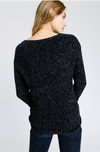 Warm Feelings Black Chenille Sweater
