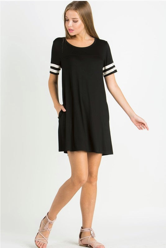 b957d0be09 Weekend Warrior Black T-shirt Dress – The Lace Anchor