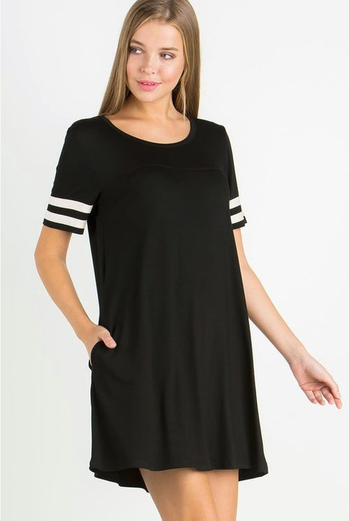 Weekend Warrior Black T-shirt Dress