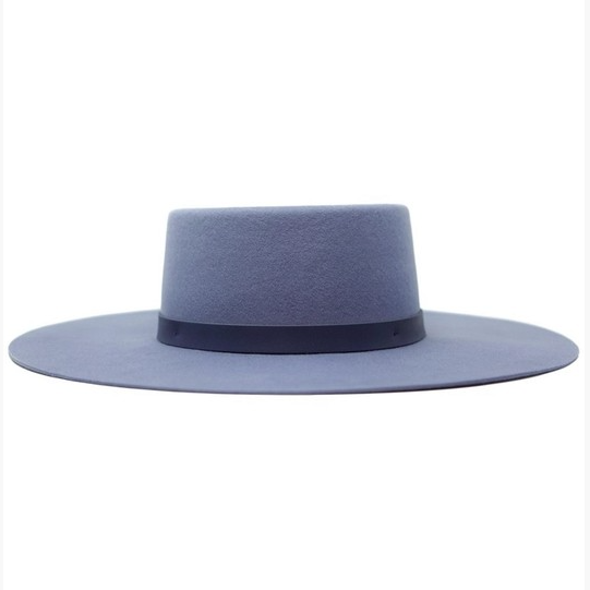women's denim blue felt hat