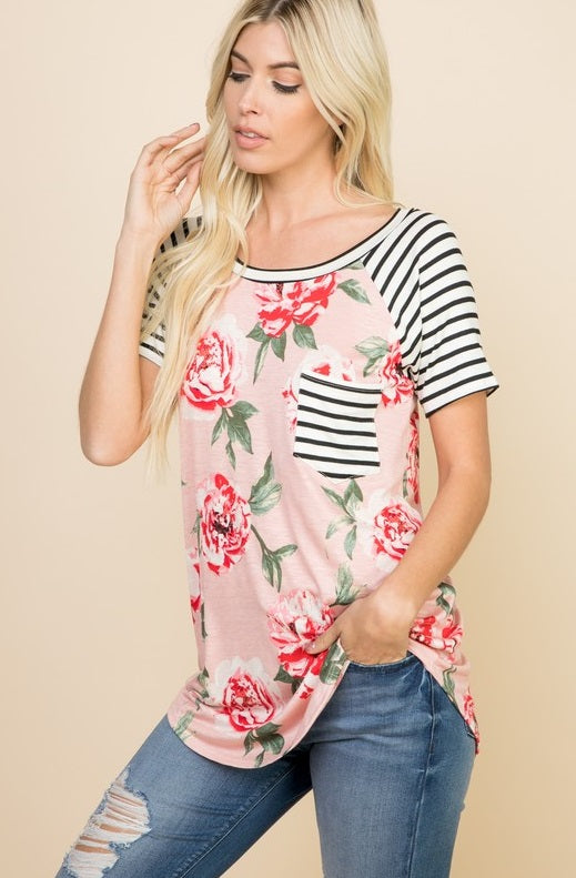 Have it My Way Blush Floral Top