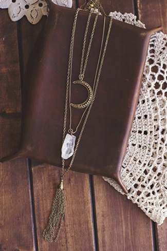 To The Moon and Back Gold Layered Necklace