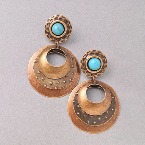 Bronzed Glow Antique Gold Earring