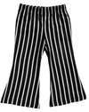 black & white striped toddler girls pants