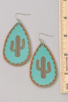 Get To The Point Turquoise Earrings