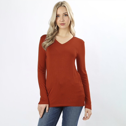 Back to Basics Copper Long Sleeve Top